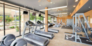 Residences at the domain Apartments fitness center
