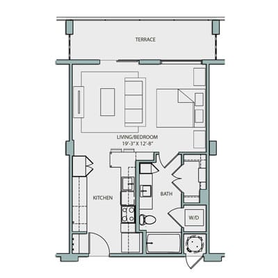Studio S1.1 680 Sq. ft. $1905