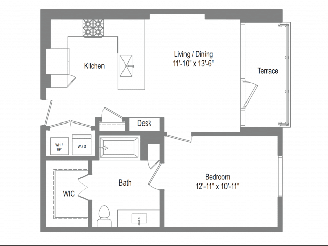 The Bowie A2 Floor Plan