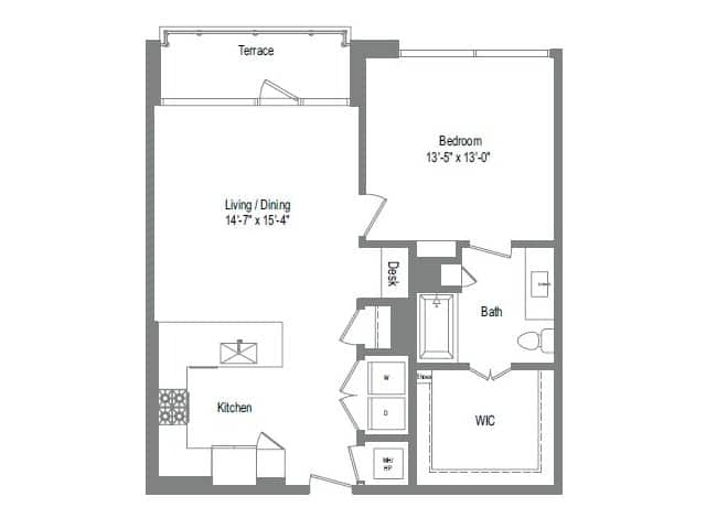 The Bowie A6 Floor Plan