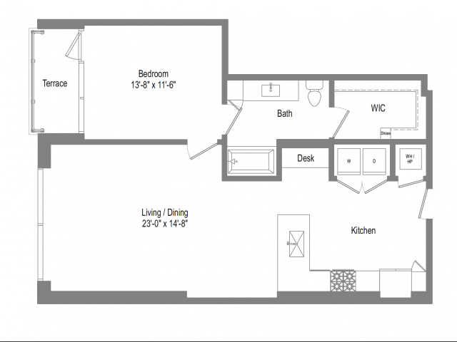 The Bowie A7 Floor Plan
