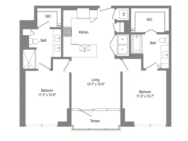 The Bowie B1 Floor Plan