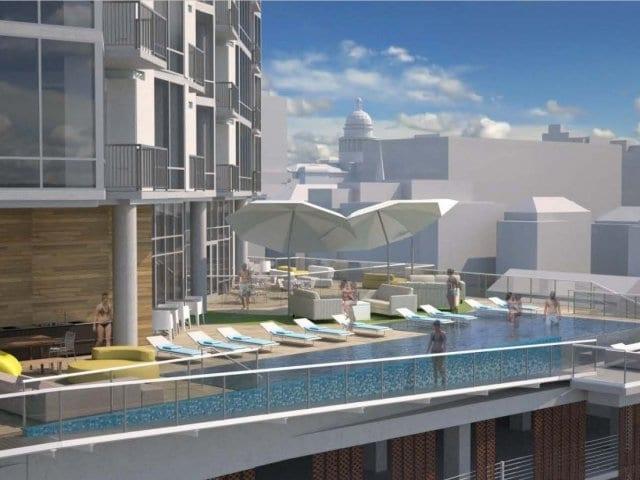 seven high rise austin pool