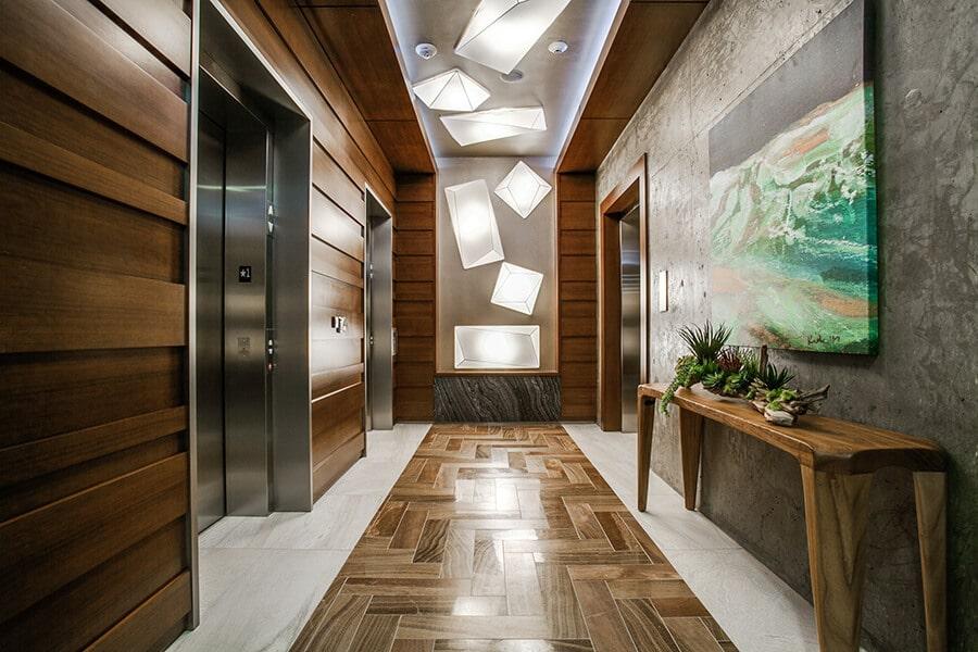The Catherine Hallway to Elevators