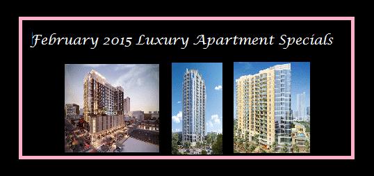 february apartment specials austin
