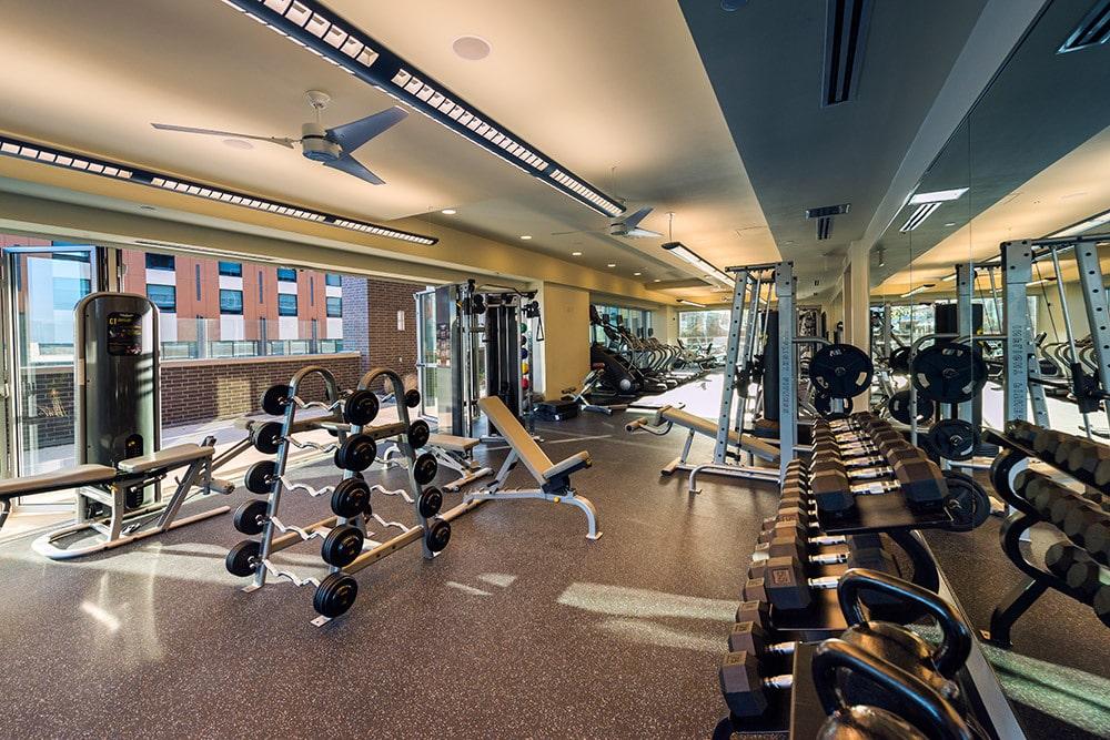 whitely high rise fitness center