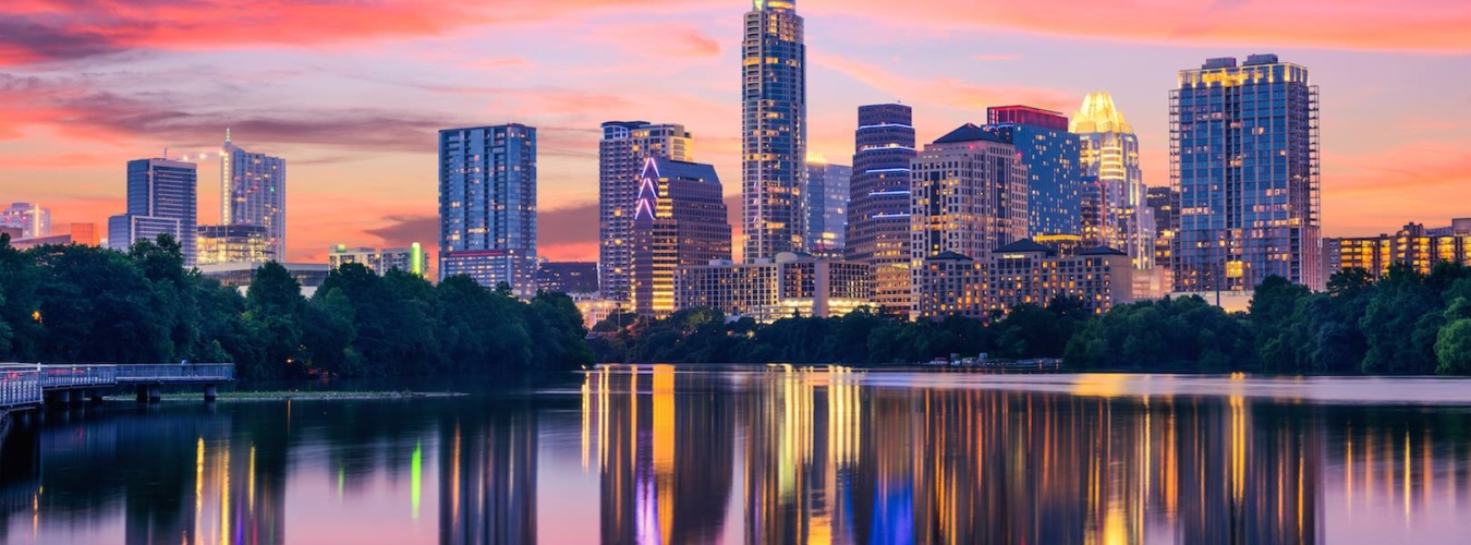 Austin Luxury Apartments and High Rises at Night